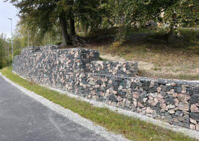 Gabionmur Rönninge