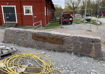 Råblocksmur Husby Gård
